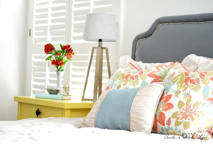 DIY Headboard and nightstand... Come take a look at all the tutorials!