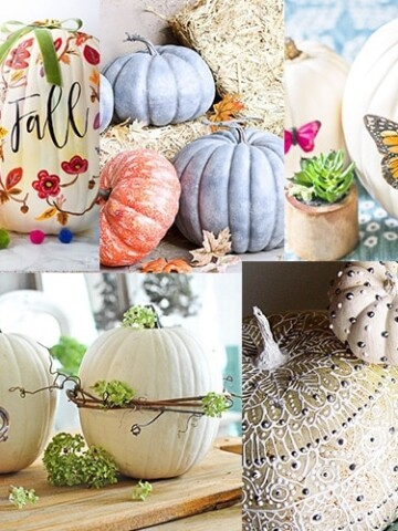 These cool Pumpkin decorating ideas will spark your creativity! Don't just carve it! Create unique fall and Halloween pumpkin decorations!
