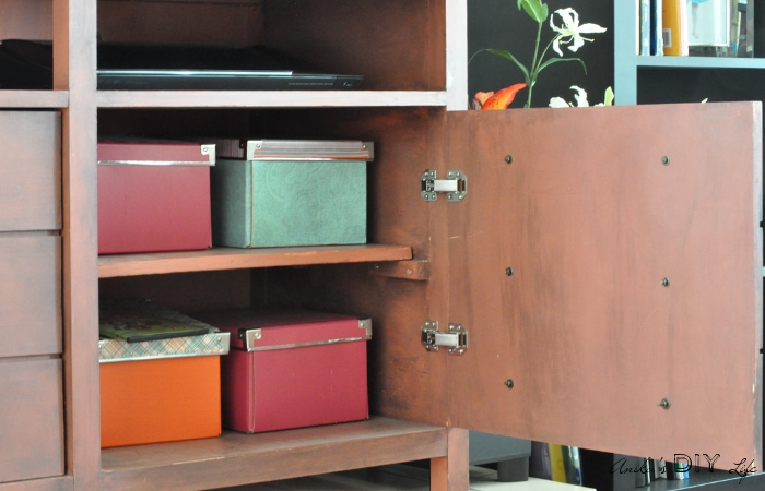 How To Attach Euro Hinges In The Faux Apothecary Media Cabinet