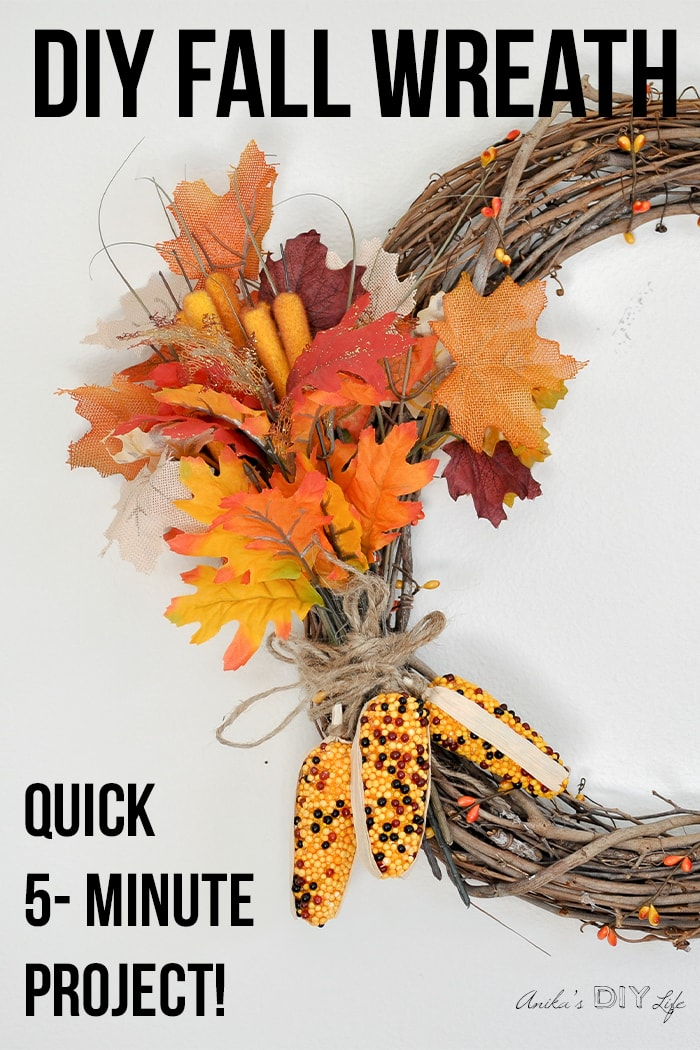 How To Make An Easy Diy Fall Wreath Anika S Diy Life