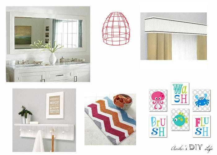 Inspiration for kids bathroom makeover. Come check out how I did this in a rental with everything removable!