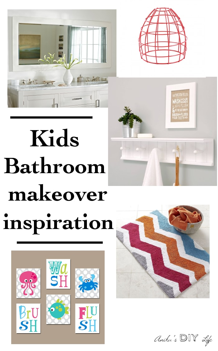 Check out how I will update the rental kids bathroom to look like this for $100!