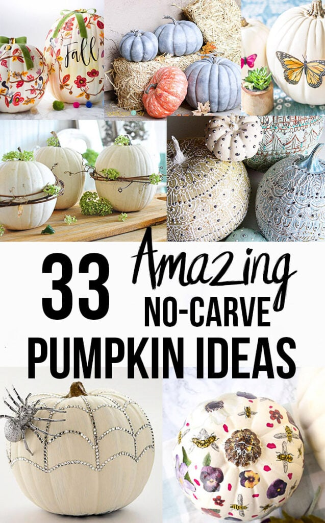 33 Amazing No Carve Pumpkin Decorating Ideas For Fall You Need To See
