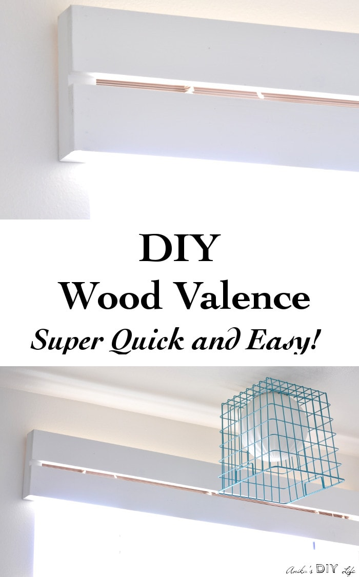 You will not believe how easy it is to make this DIY Wood Valence!