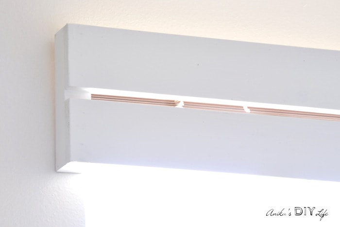 You won't believe how easy it is to make this DIY wood valence