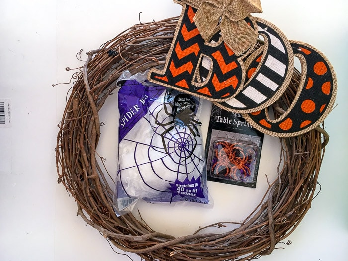Check out the wreath she made for Halloween with this $10 material