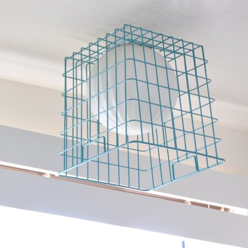 DIY Easy Wire Basket Lampshade
