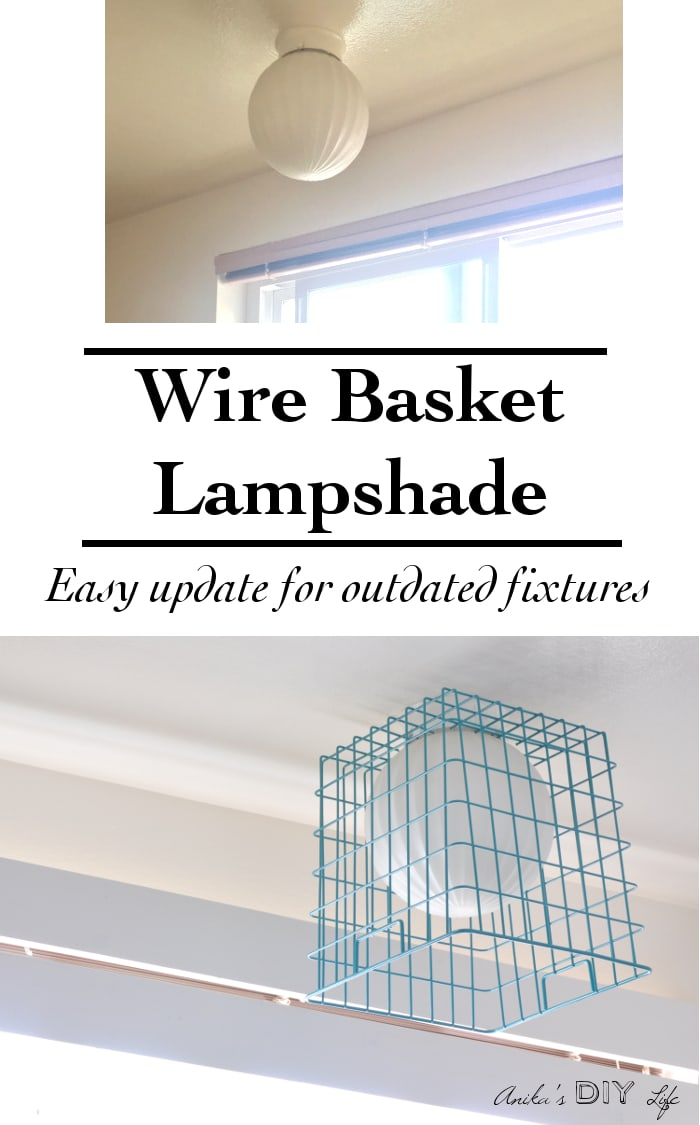 Diy easy wire basket lampshade anikas diy life make a wire basket greentooth Gallery
