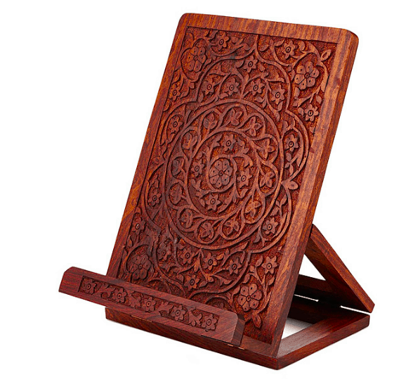 Unique hostess gift ideas made from wood anikas diy life hand carved rosewood cookbookipad standunique hostess gift ideas that are negle Choice Image