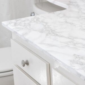 DIY Faux Marble Countertop Update