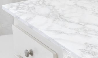 DIY Faux Marble Countertop Update