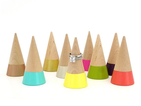 These ring cones are a great idea. Check out all the other Wood gifts for her - perfect for any occasion - birthday anniversary or even Christmas. Great 5th anniversary gift