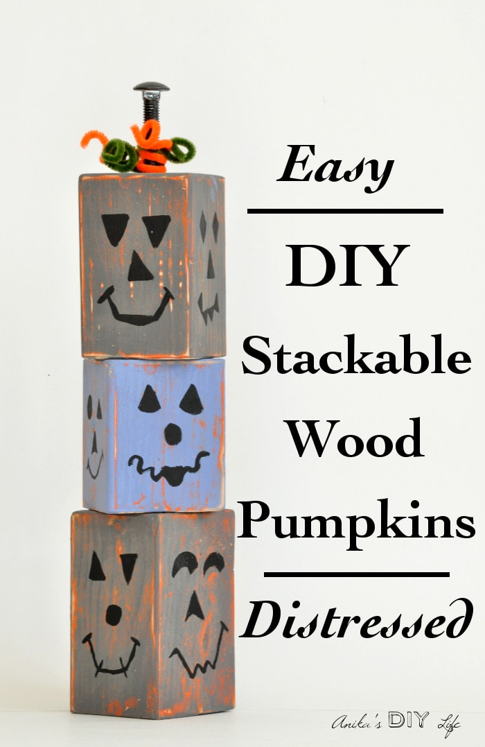 Super easy DIY Wood pumpkins... the distressing makes them so unique! you have got to check it out!