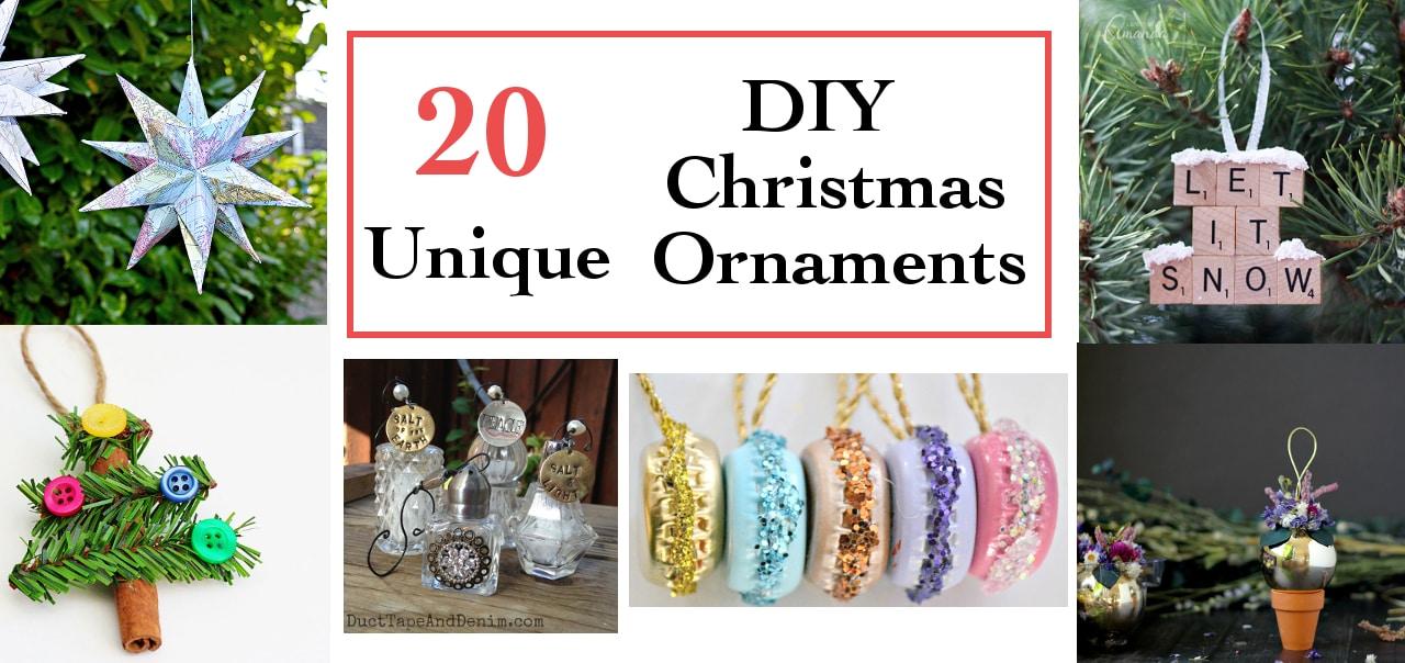 Unique Ornaments 20 unique diy christmas ornaments - anika's diy life