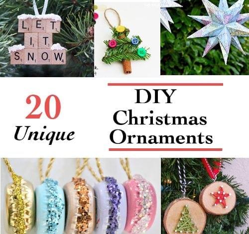 20 Unique DIY Christmas Ornaments