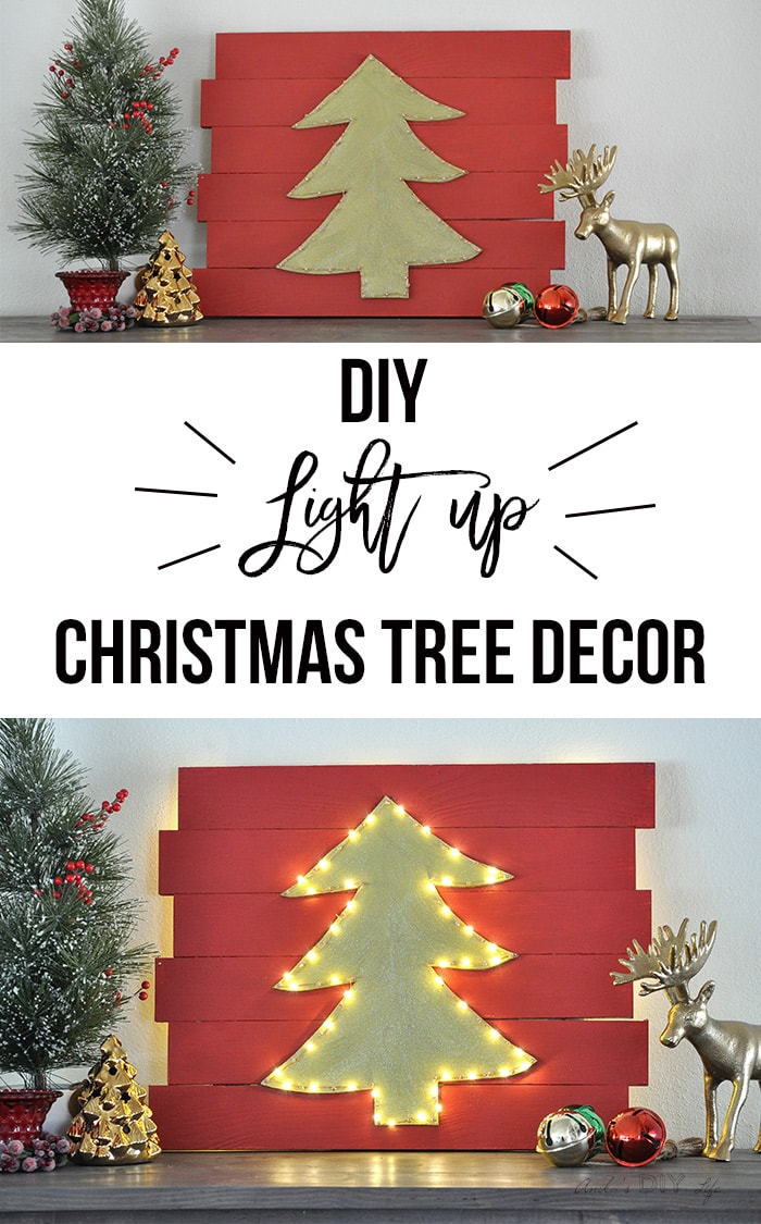 and so easy to make diy led christmas wall