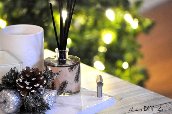 She shows you how to make this beautiful centerpiece with a DIY marble tray!
