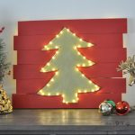 DIY LED Christmas tree wall decor