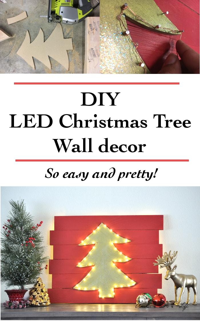 DIY LED Christmas Tree Wall
