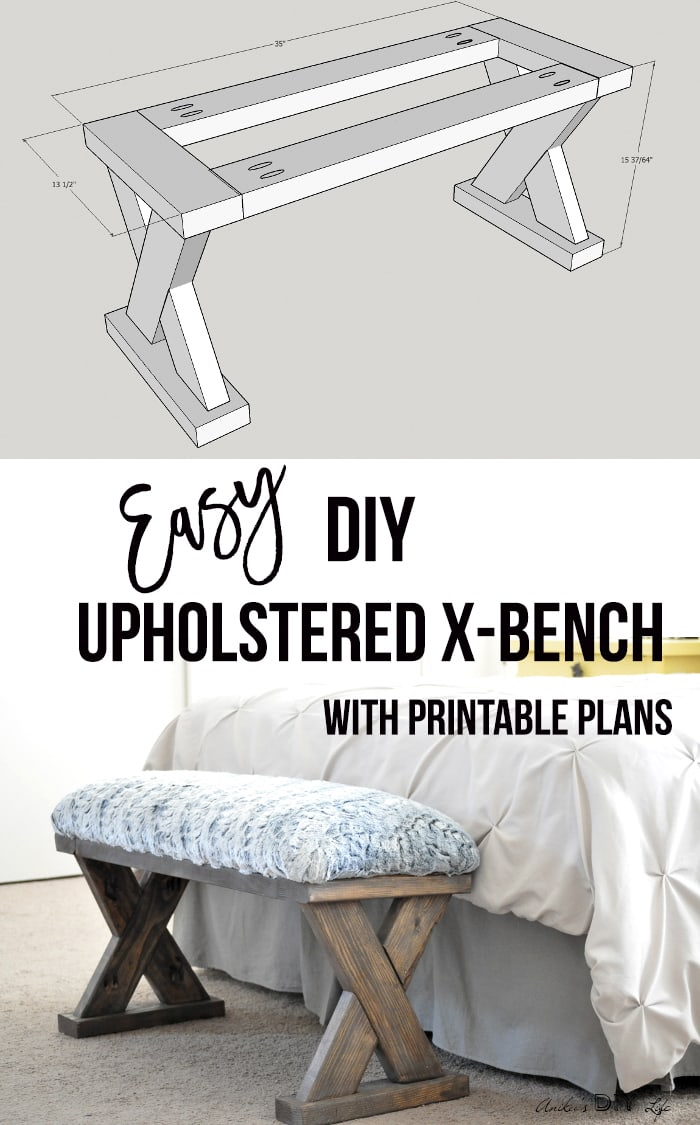 Astonishing Diy Upholstered X Bench Using 2 X 4 Boards With Plans Gmtry Best Dining Table And Chair Ideas Images Gmtryco