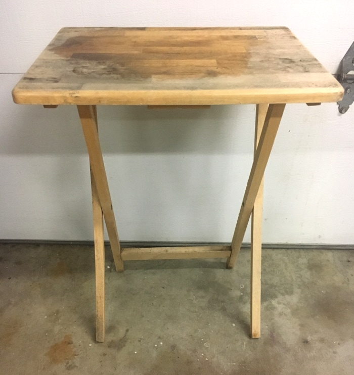 Take a look at how this old TV table got a makeover!