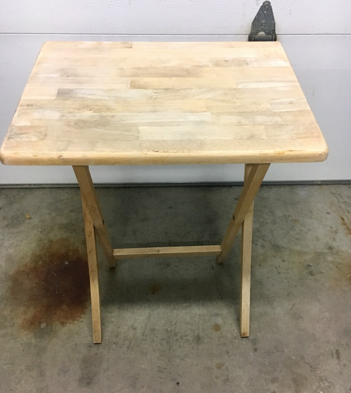 This table used to be covered with mold and grime! Check out how it was cleaned and is now ready for a makeover!