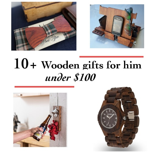 10+ wooden gifts for him under $100 that are perfect for any occasion - christmas, birthday or anniversary. They even make great stocking stuffers!