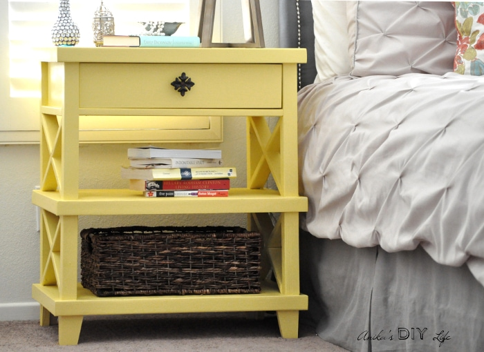 Wow! I can't believe this is a DIY version of the Pottery Barn Clara bedside table! This DIY knock off is just amazing! And she has the full plans!