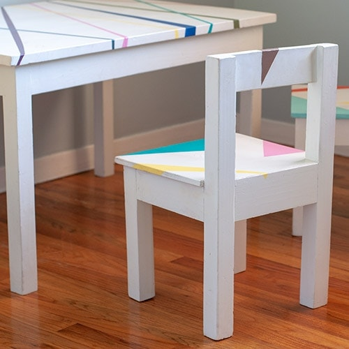 Easy DIY Kids Table and Chairs Set