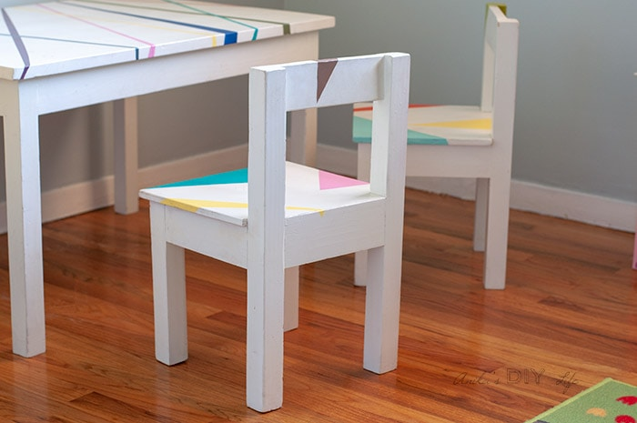 Stupendous Easy Diy Kids Table And Chair Set With Free Plans Anikas Caraccident5 Cool Chair Designs And Ideas Caraccident5Info