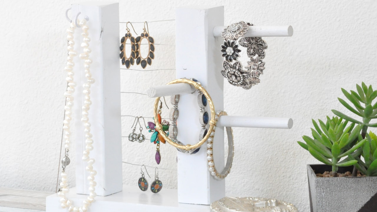 Diy Jewelry Holder Diy Jewelry Organizer It Doubles As Wall Decor Anikas Diy Life