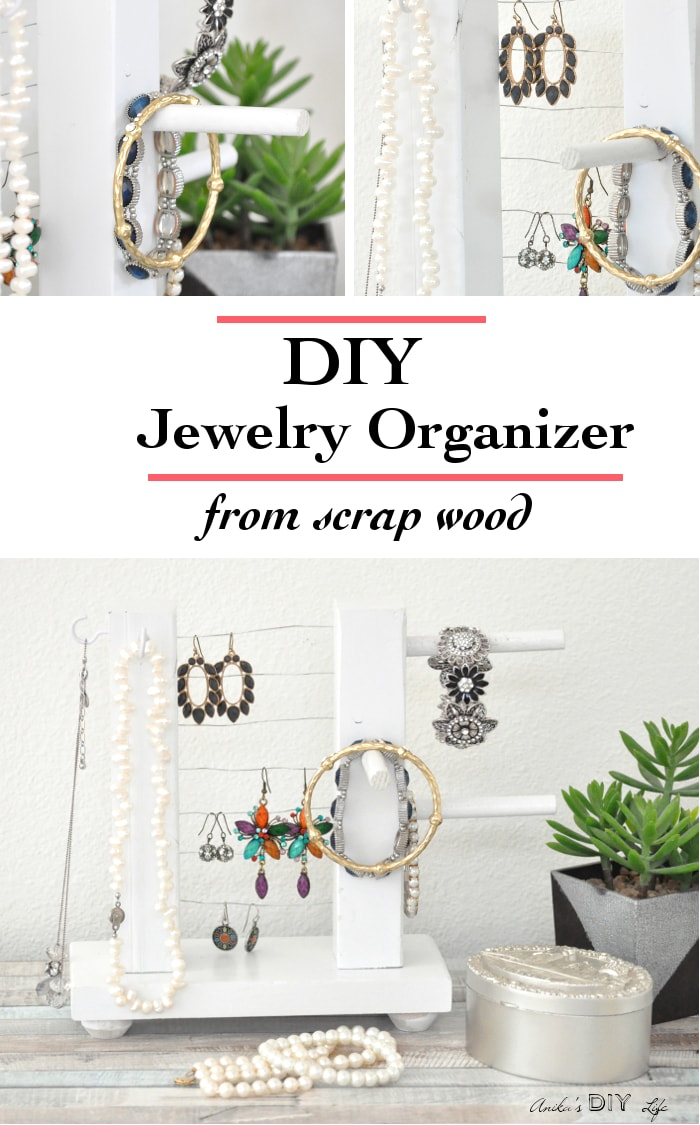 Scrap wood projects - jewelry organizer