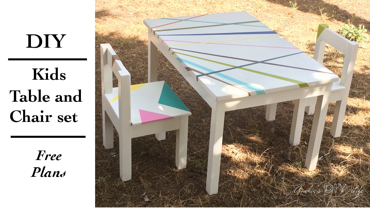 Easy DIY Kids Table and Chair set with Free Plans Anika39s DIY Life
