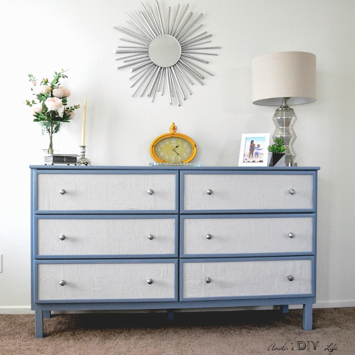 Take the plain dresser to whole new level with this easy Ikea Tarva hack. This Ikea dresser makeover totally transforms the simple dresser to a high end piece!