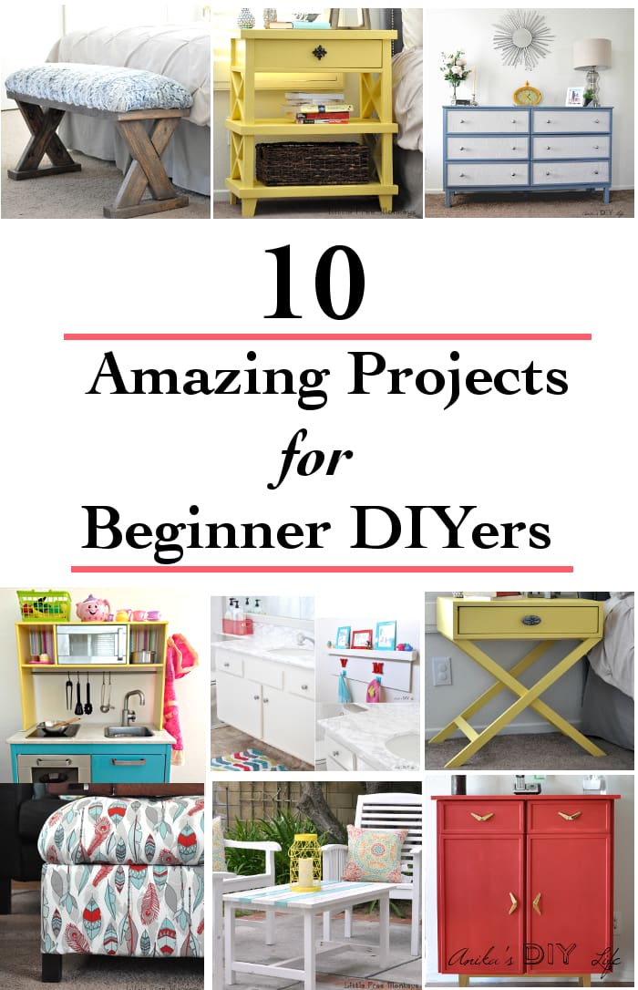 WOW! These top DIY projects of 2016 are the perfect DIY beginner projects! These Woodworking ideas and furniture makeover projects are the best I have seen!