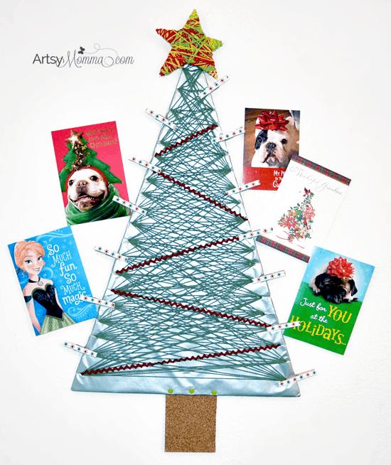 20 DIY Christmas Card Holder Ideas - Anika\'s DIY Life