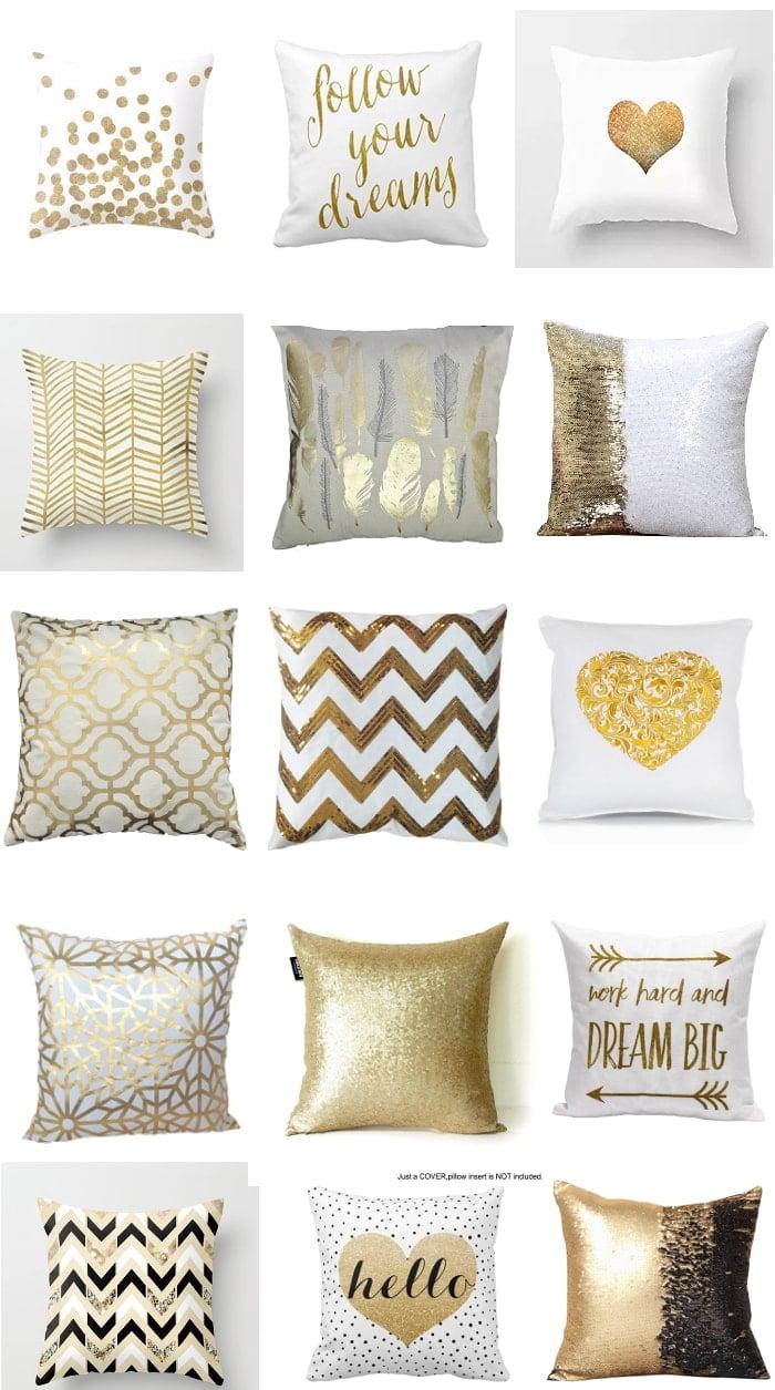 covers com pillow design valentine pillows product gold elegant