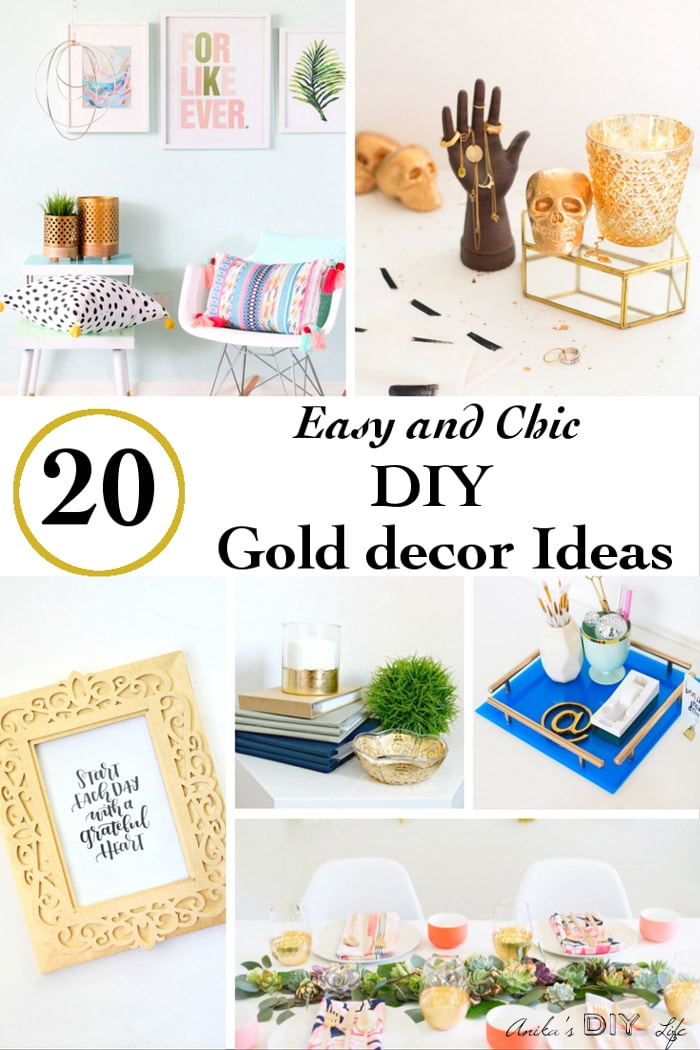 These Gold decor ideas will blow your mind!! They are the best I have seen!