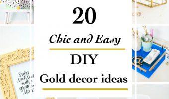 20 Chic DIY Gold Home Decor Ideas