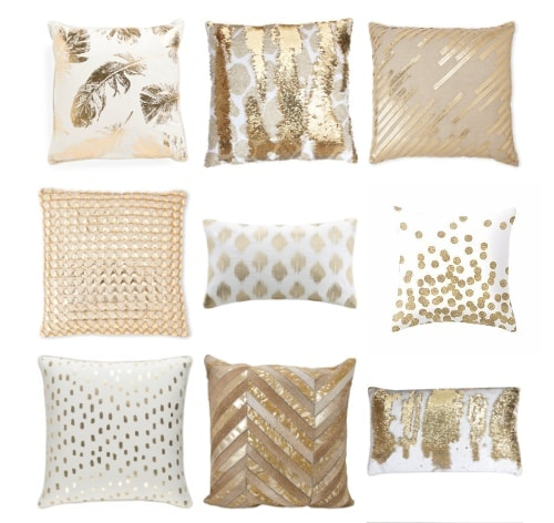 30 Gold Pillows for every budget