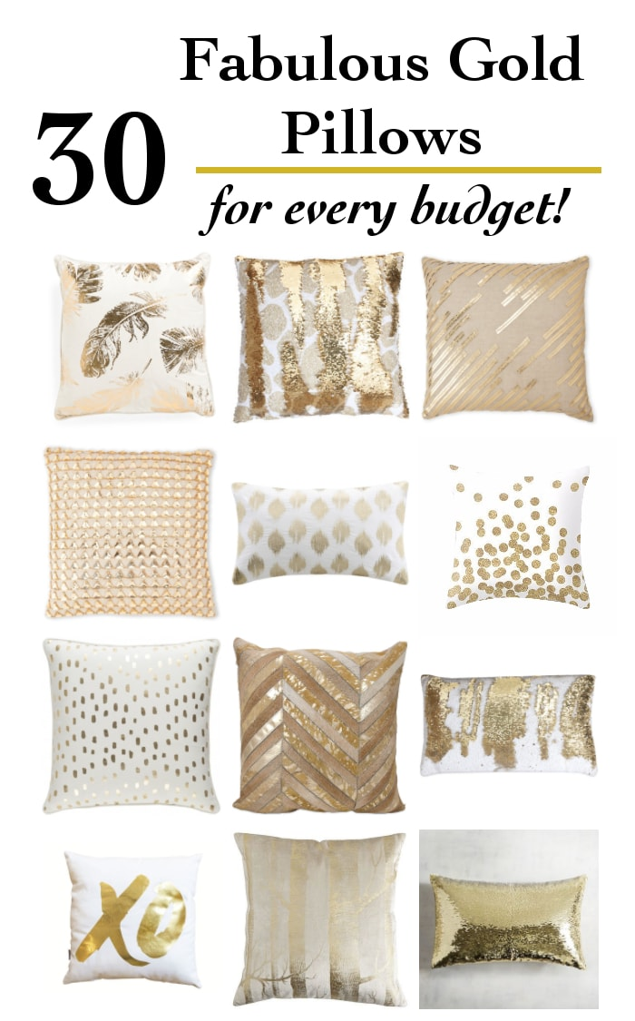 Wow!! These are some fabulous gold pillows! Such an amazing collection of gold pillows and pillow covers. I can't choose!