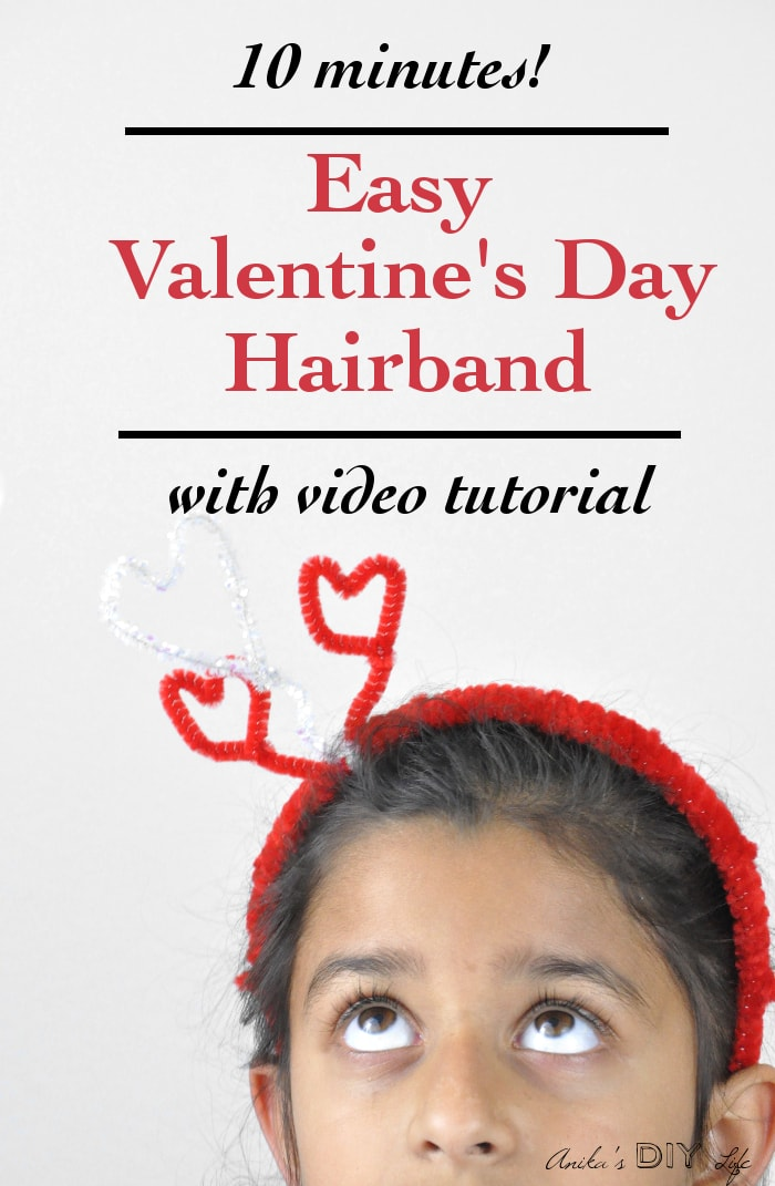 This is the cutest Valentine's day craft ever! I can totally make this easy Valentine's hairband with my little girl!