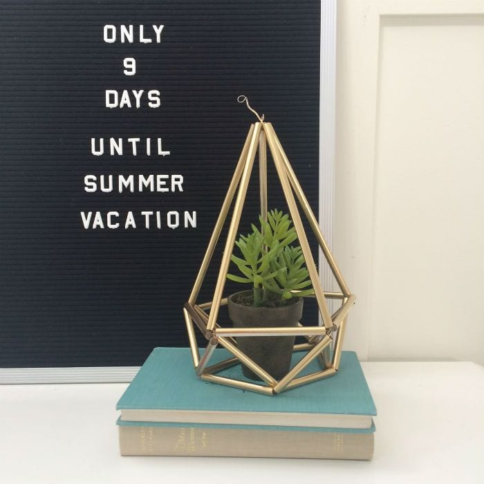 You have got to see all the ideas on this page for DIY gold home decor like this easy himmeli plant holder