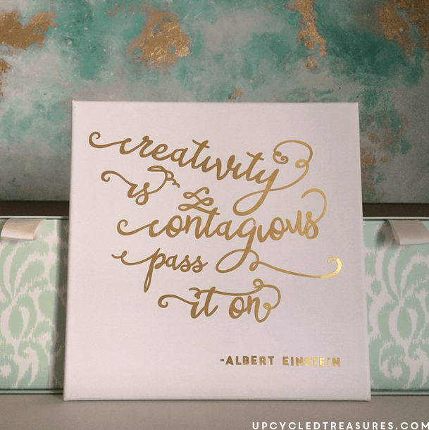 You have got to see all the ideas on this page for DIY gold home decor like this easy inspiring wall art