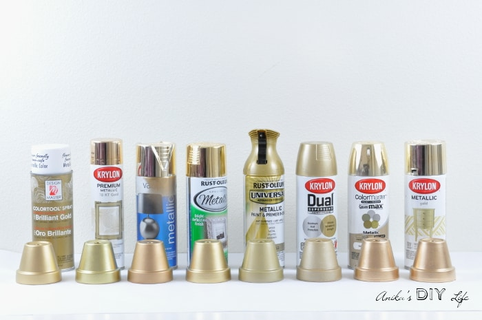 The Best Gold Spray Paint out there - Anika's DIY Life