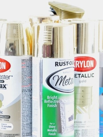 Frustrated with trying to find the best gold spray paint? We share tests on 8 products to help you pick your favorite without having to buy them all!