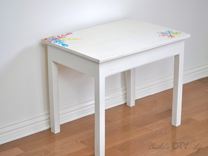 DIY Kids desk with lid closed