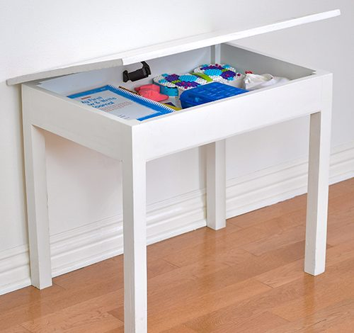 Easy DIY Kids table with Storage