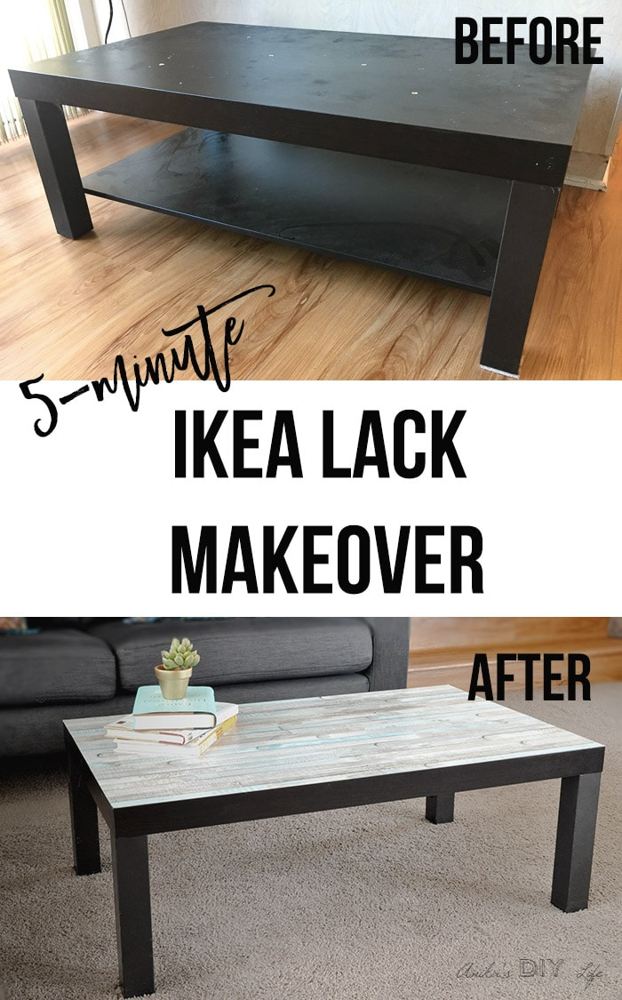 Love this easy Ikea lack coffee table makeover | Ikea lack hacks #ikeahacks