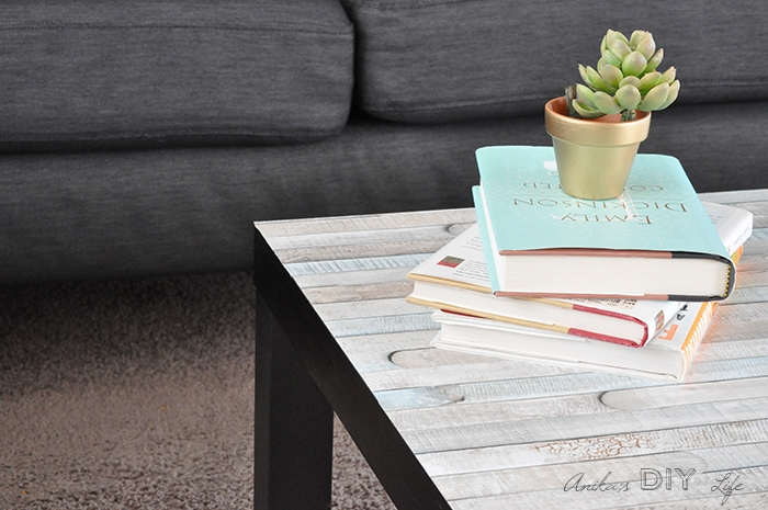 Ikea Lack Coffee Table Makeover The Easiest kind Anikas DIY Life